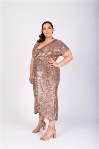 שמלת לורנה פייטים זהב