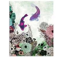 ציור של דגי קוי פנג שואי