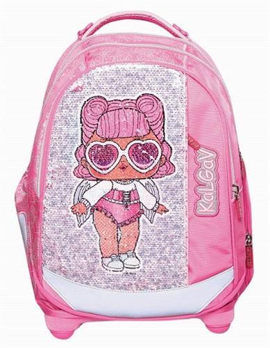 תיק לול ורוד Schoolbag LOL Sequines