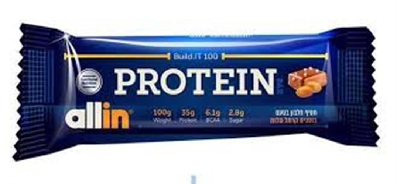מארז חטיפי חלבון אול אין - 100 גרם ליחידה - 12 יחידות במארז