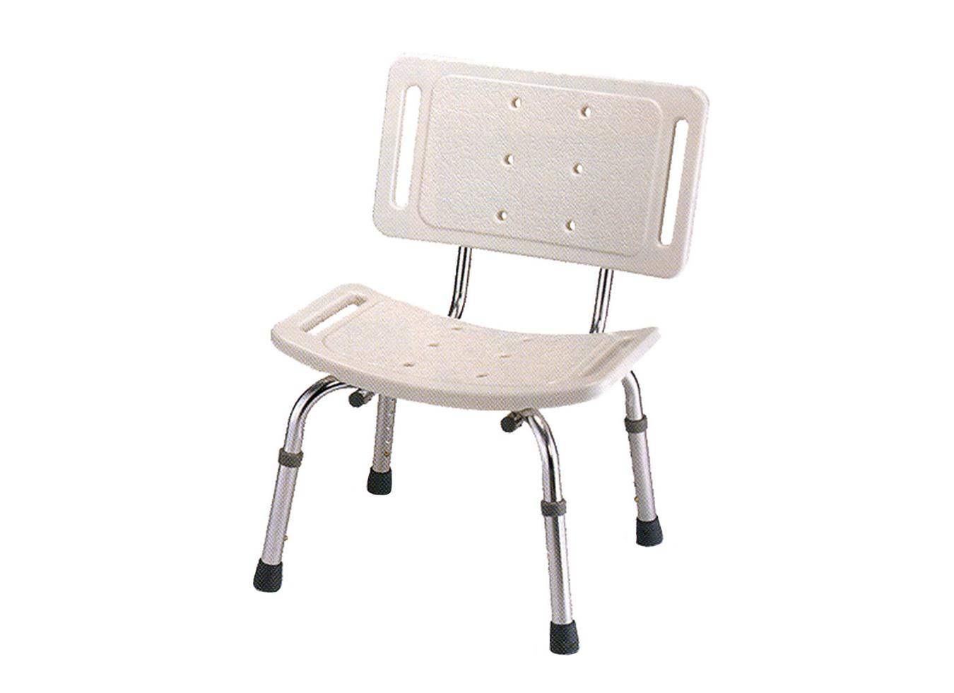 כסא מקלחת טלסקופי עם משענת