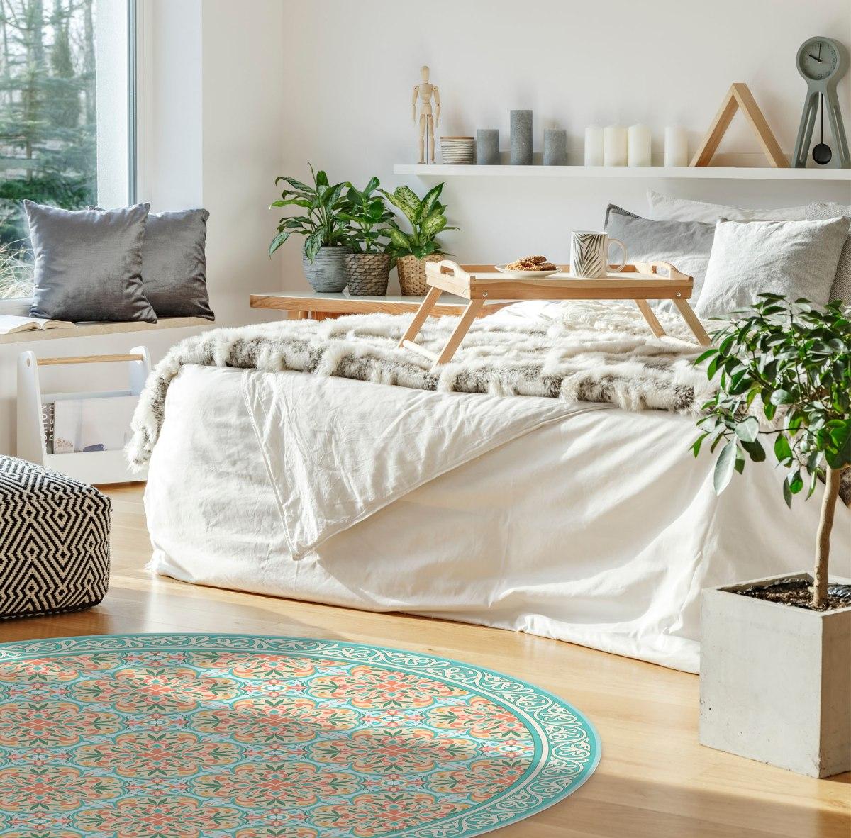 שטיח פי.וי.סי עגול בוסתן איטלקי  TIVA DESIGN קיים בגדלים שונים