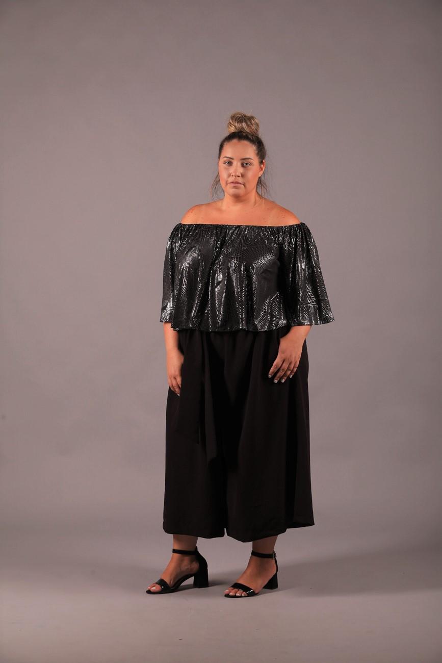 מכנס קמיל שחור