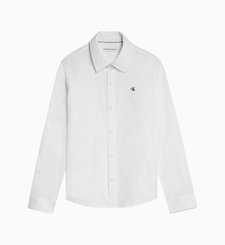 חולצה מכופתרת לבנה CALVIN KLEIN