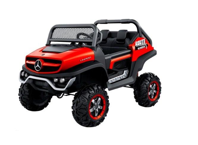 גיפ' Mercedes Unimog אדום 24 וולט