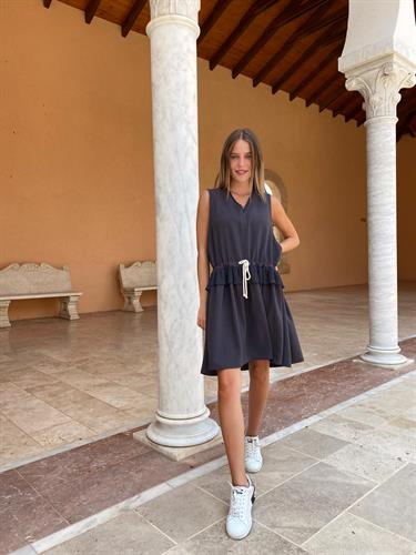 שמלת טין אפורה