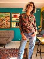 חולצת אייטיז ויסקוזה מידה M/L