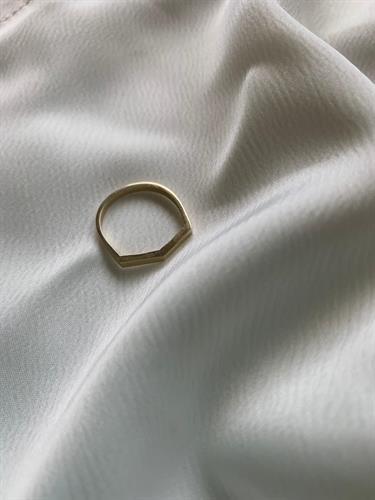 טבעת רירי זהב 14 קראט
