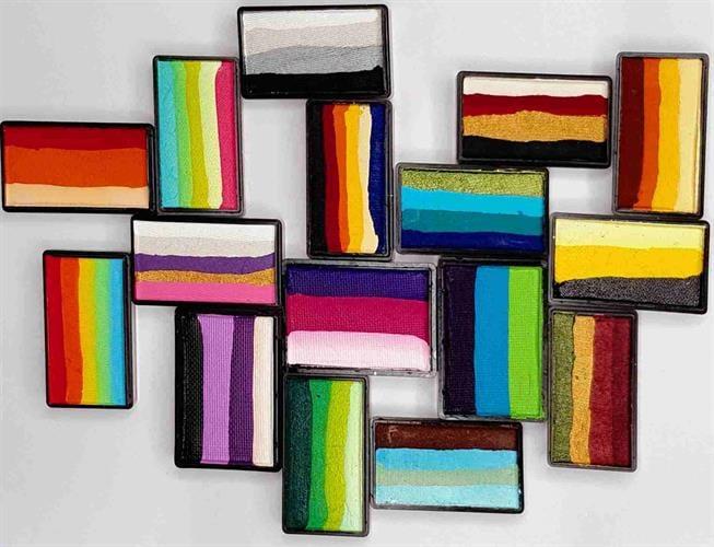 קשתות , עוגות cameleon color block
