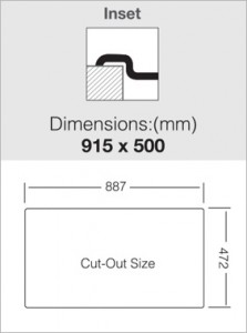 כיור מטבח נירוסטה יחיד עם משטח LT915