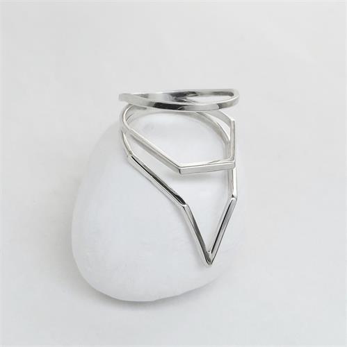 טבעת Broken Lines כסף