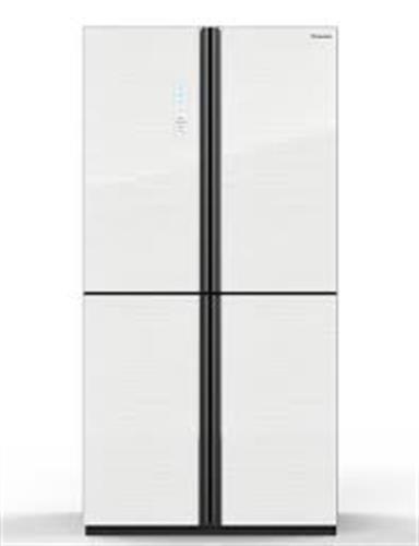 מקרר מקפיא תחתון hisense RQ82/SKI 600 ליטר הייסנס זכוכית לבנה