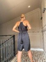 מכנסי CLASSIC - שחור סאטן משי