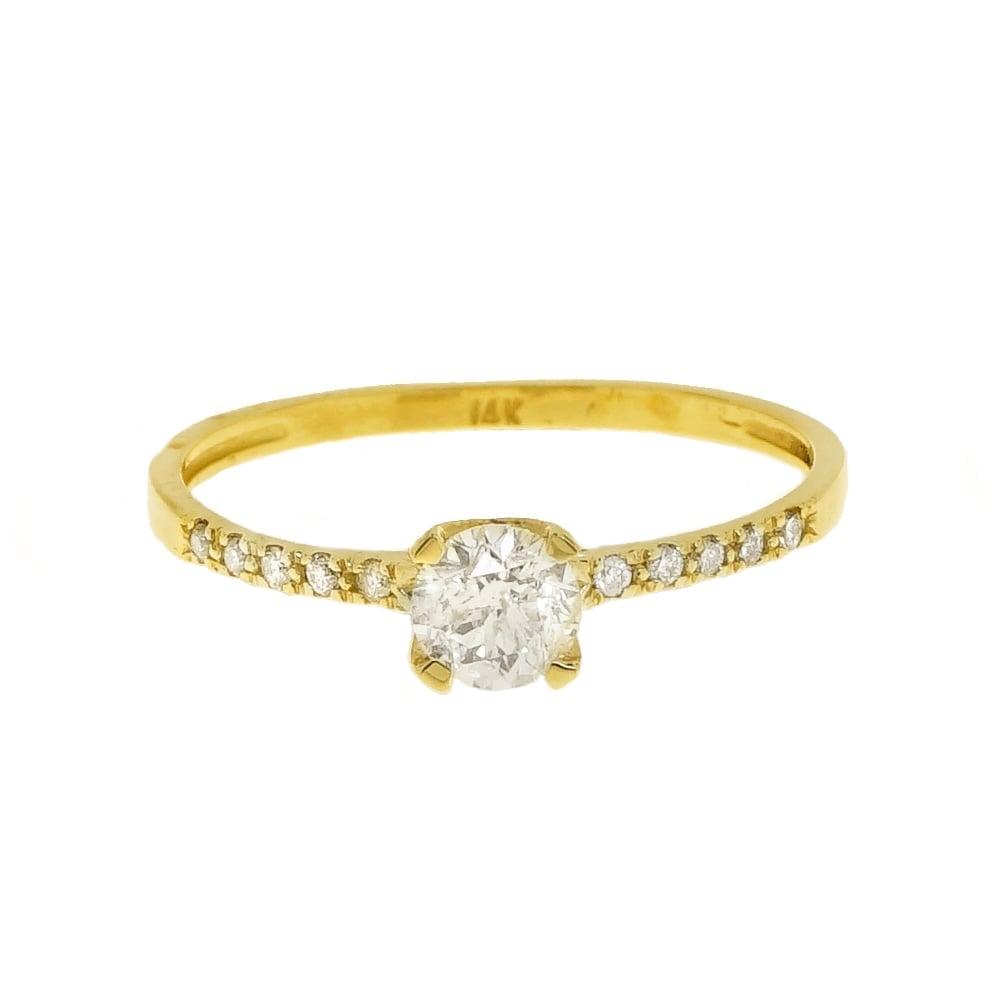 טבעת יהלומים 0.60 קראט בזהב 14 קרט