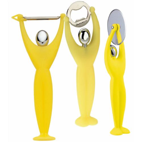 סט קולפן פותחן וסכין GYM צהוב