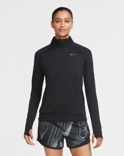 NIKE PACE חולצת אימון גולף ארוכה דרייפיט שחור מלא