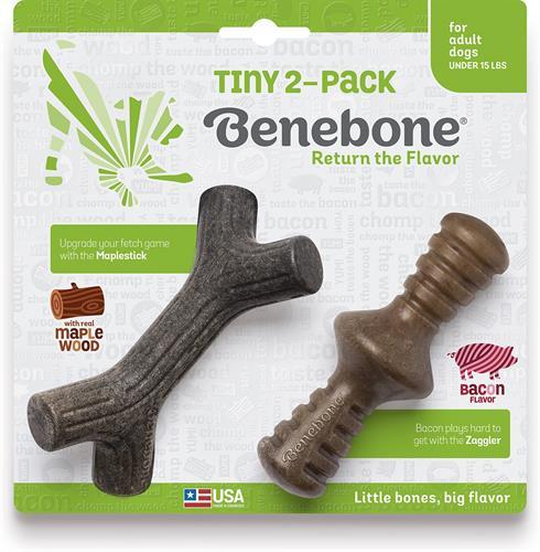 צעצוע בנבון לכלב עצם בנבון גורים 2 יח' זגלר ומייפל