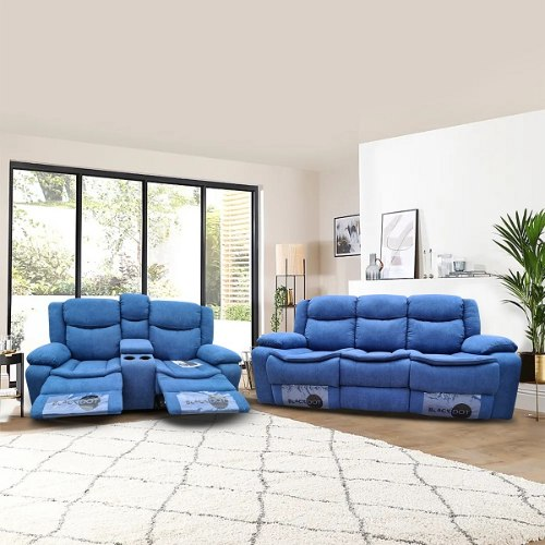 ספה 2+3 מושבים ג'ק מרלו ( בד כחול )