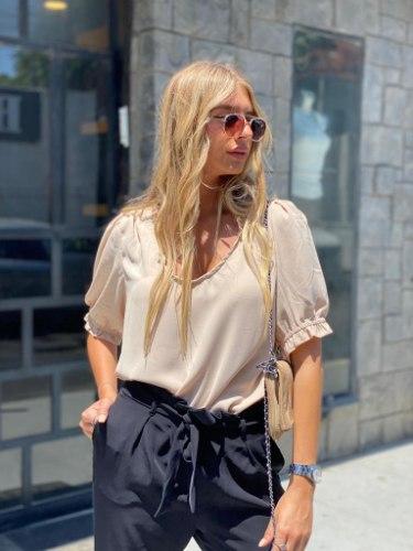 חולצת הלן בז' THOMAS