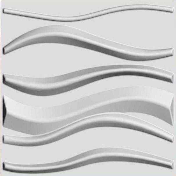 חיפויי קיר תלת מימדי דגם ''lake'' בגודל 50X50