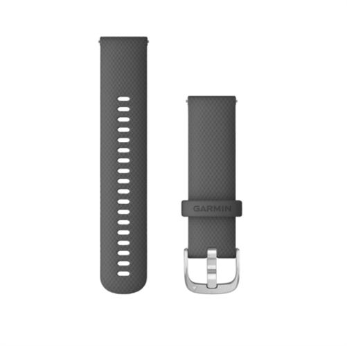 רצועה מקורית לשעון גרמין Garmin Vivoactive 4 Quick Release Bands 22mm אפור