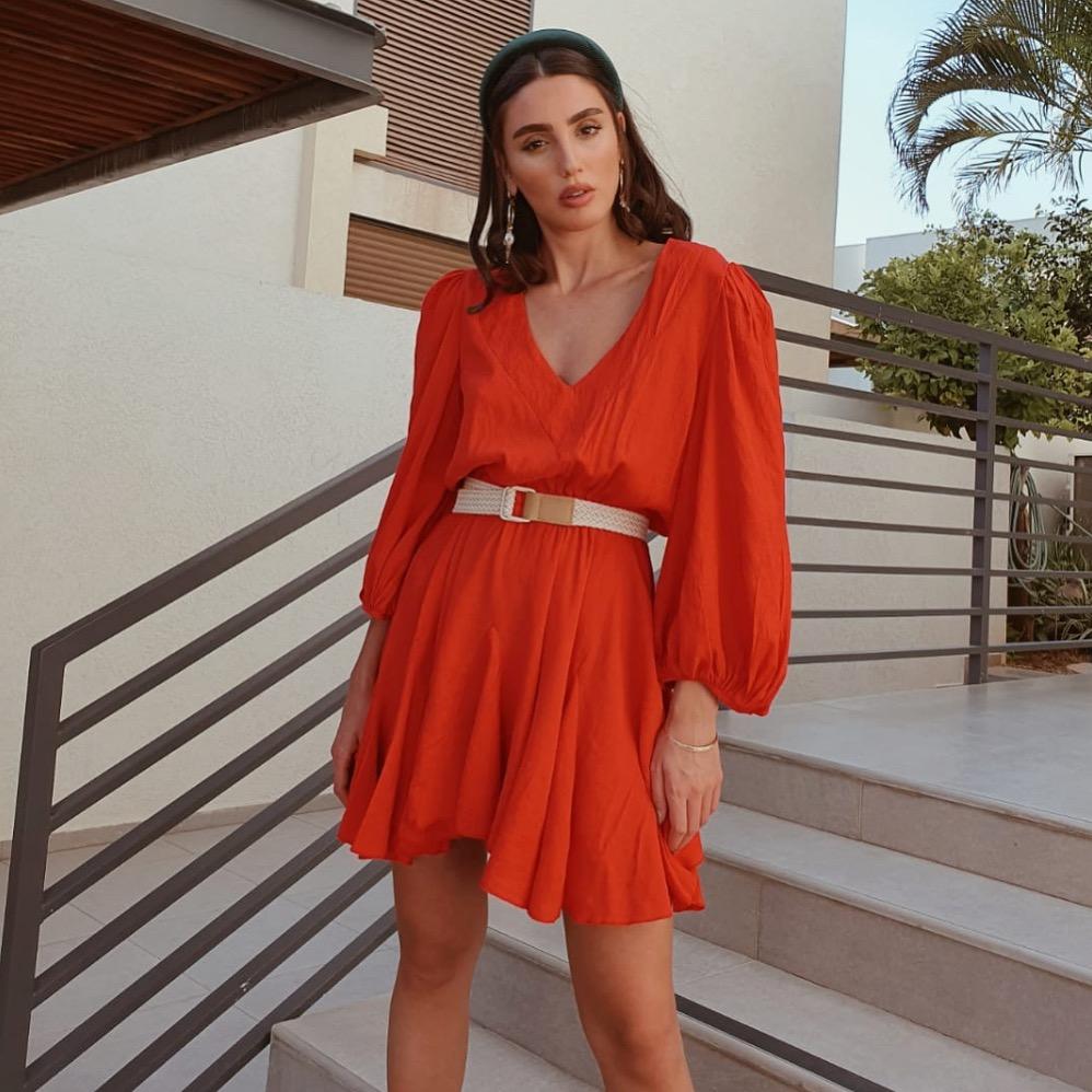 שמלת מרלן - אדומה