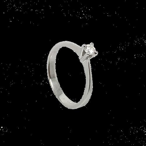 טבעת אירוסין זהב לבן 14K יהלום מרכזי OP07160064308