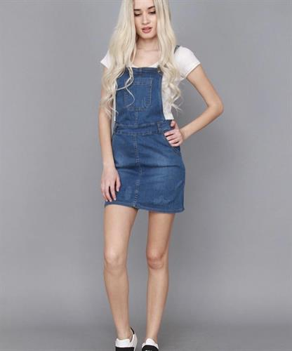 אוברול ג'ינס חצאית