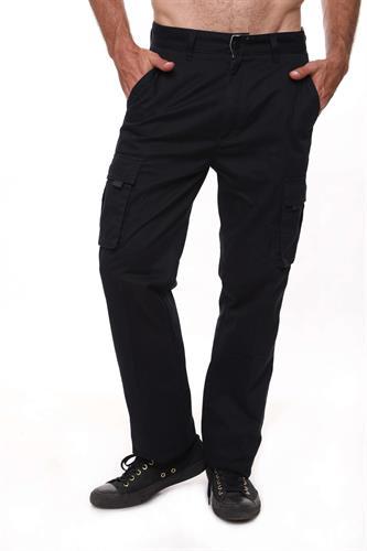 מכנס דגמח קלאסי שחור גבר