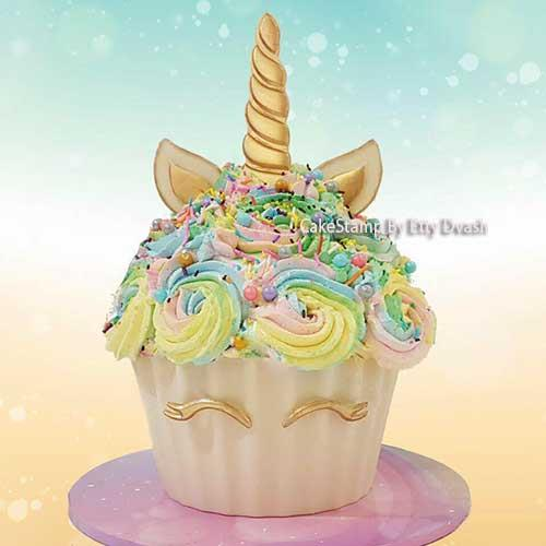 Unicorn eyelashes and cake set  for chocolate