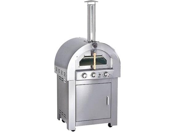 תנור פיצה נירוסטה גדול מקצועי