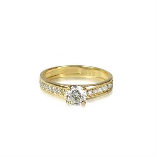 0.70 קראט טבעת יהלומים בזהב | טבעת אירוסין