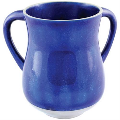 """נטלה אלומיניום 14 ס""""מ בגוון כחול עם נצנצים"""