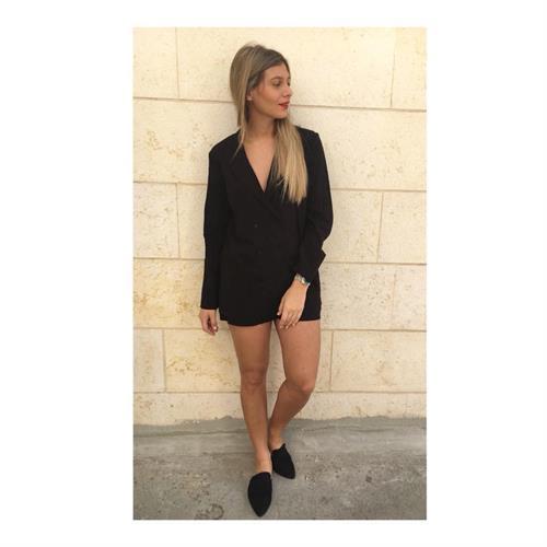 חליפת אמיליה פשתן שחורה