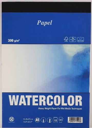 בלוק 12 דף WATERCOLOR גודל A5