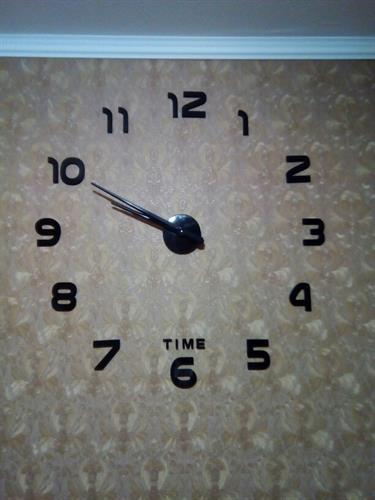 שעון מראה שחורה מספרים