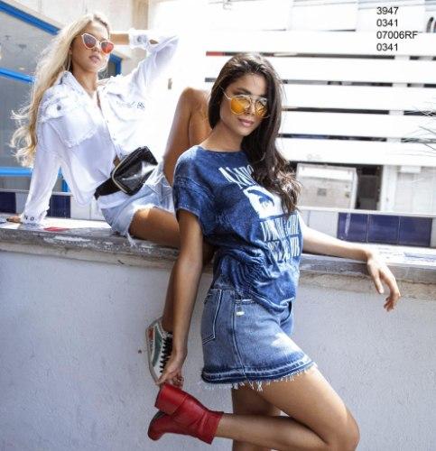 חצאית מיני ג'ינס ANTIGO