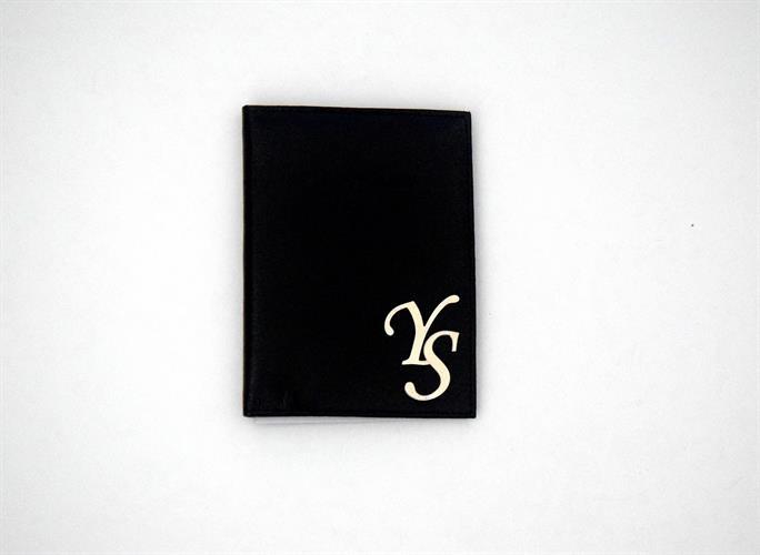 כיסוי דמוי עור לדרכון-שחור
