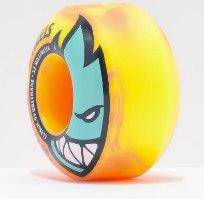 Spitfire Bighead 52mm 99a Neon Orange & Yellow Skateboard Wheels