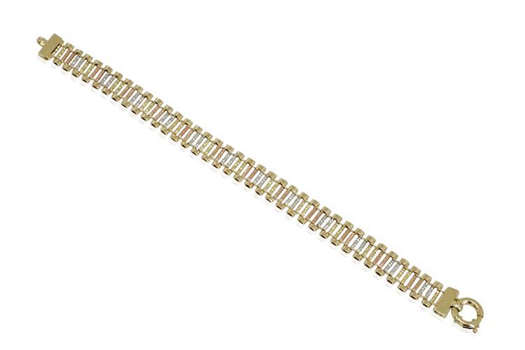 צמיד זהב לאישה │ צמיד חריטת לייזר │ צמיד חוליות לאישה │ צמידי זהב לנשים
