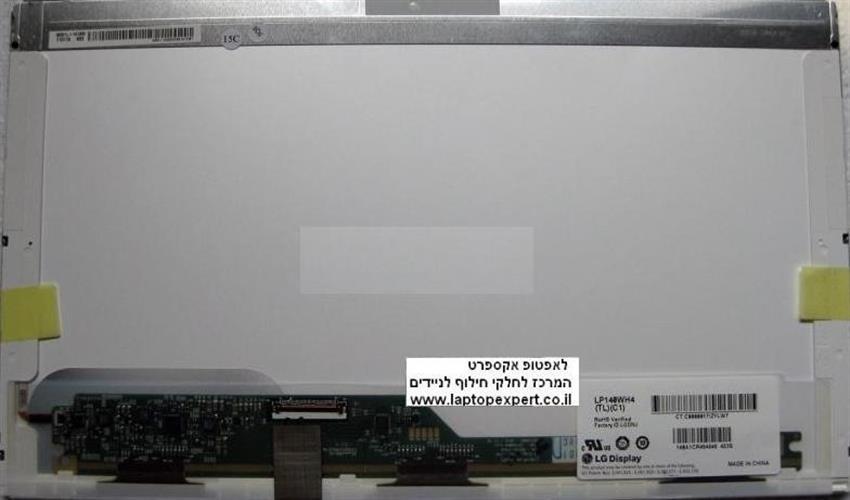 החלפת מסך למחשב נייד LP140WH4-TLC1 Widescreen Led WXGA HD 1366*768 40pin Original