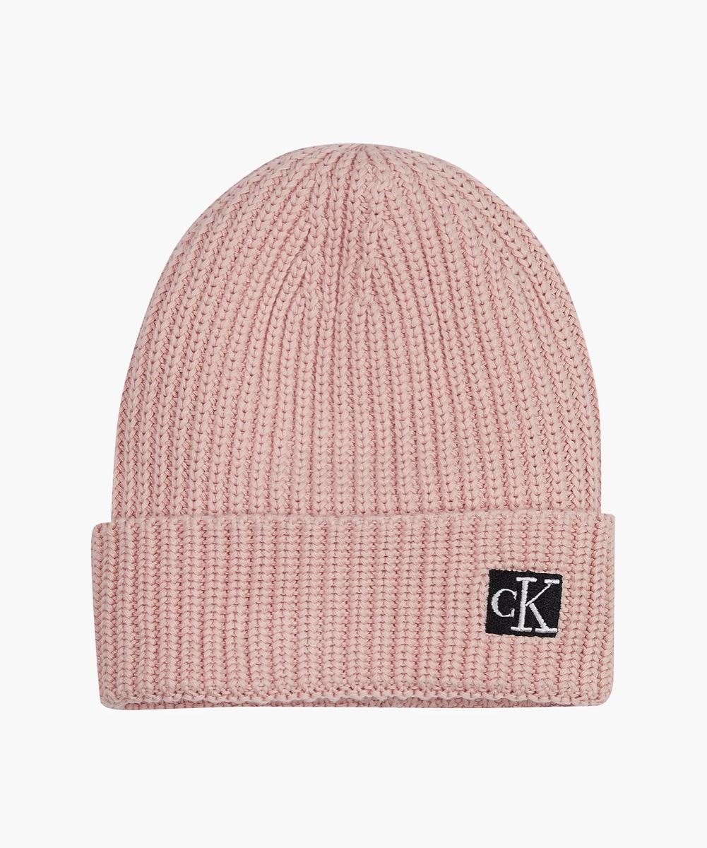 CK כובע סריג ורוד