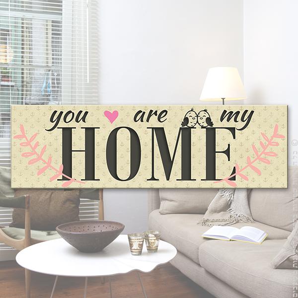 """שלט עץ """"My Home"""""""