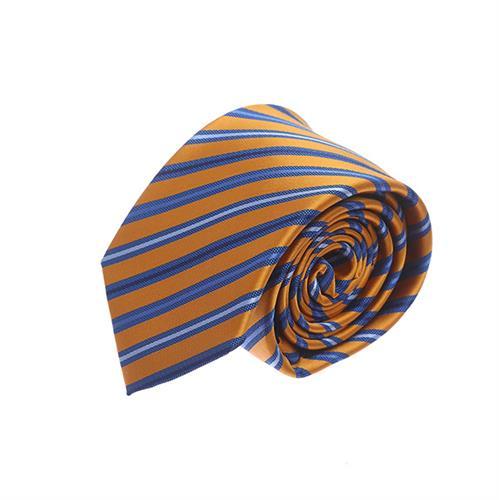 עניבה פסים צהוב כחול
