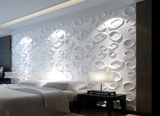 חיפויי קיר תלת מימדי דגם ''carol'' בגודל 50X50