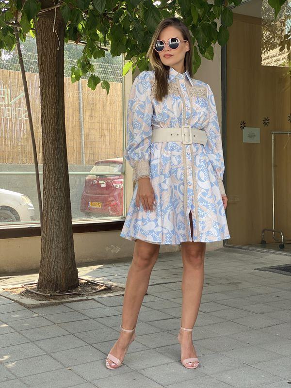 שמלה איימי שילוב קורשה קצרה