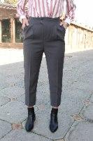 מכנסי סמואל מחוייטים שחור