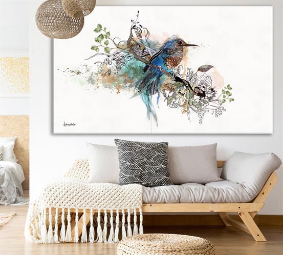 ציור של ציפור כחולה