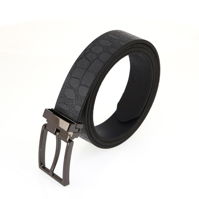 חגורה עור שחור דגם כותל