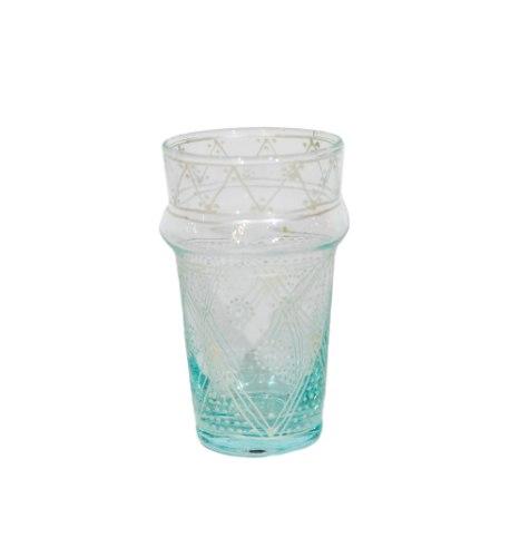 כוס זכוכית מאויירת טנג'יר